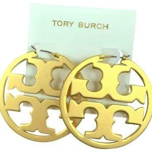 TORY BURCH 16k GOLD PL MILLER EARRINGS